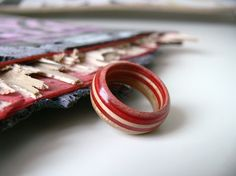 jewelry made from recycled skateboard
