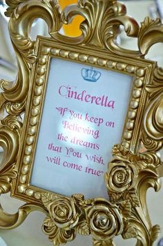 diy cinderella center peices