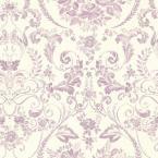 Bella Purple Damask Wallpaper Sample