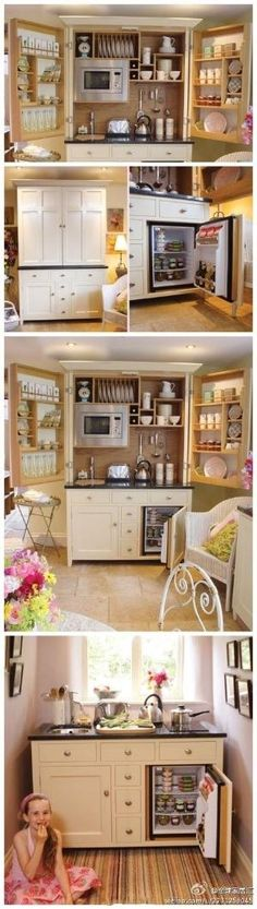 Perfect little kitchen...for a guest house or better yet an in-laws sweet, or a basement apartment ! by lynda