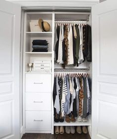 After: Stylishly Sorted | Whether you just moved into a new home with big, empty closets or you're battling a closet that's been cluttered for years, these three closet overhauls by ultra-organized (and super-stylish) bloggers are full of smart tidying tips. Flip through these inspiring before-and-after photos, then shop the sources. Your dream closet awaits.