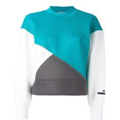Adidas By Stella Mccartney neoprene colour block sweatshirt (520 MYR) ❤ liked on Polyvore featuring tops, hoodies, sweatshirts, turquoise, neoprene sweatshirt, blue top, neoprene top, color-block sweatshirt and adidas sweatshirt