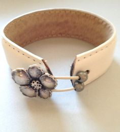 Hawaiian Wedding Leather Cuff by MellissaJill on Etsy, $22.00