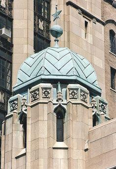 Dome of the Detroit Masonic Temple Detroit MI