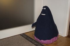 "The Groke from ""Moomins"" -new night-time pal for my daughter, who would have guessed it few years ago!"