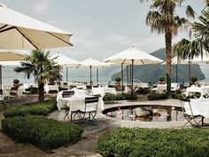 Restaurant Hotel Flora Alpina, Vitznau, Lake Lucerne, Switzerland ✯ ωнιмѕу ѕαη∂у Seen, Park Hotel, Find Hotels, Hotel Deals, How Beautiful, Restaurant Bar, Flora, Patio, Lucerne Switzerland