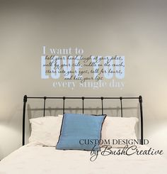 Wall Decal I love you Master bedroom quote  02844 by bushcreative, $45.00