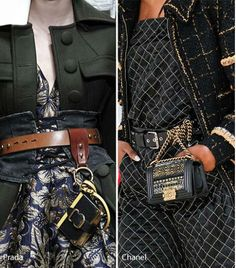 Try this trend out, wrap your favorite clutch around a belt and let it hang low…