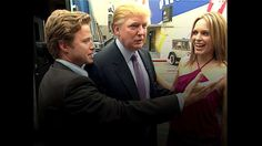 VIDEO FRAME GRAB: In this 2005 frame from video, Donald Trump (center) prepares for an appearance on 'Days of Our Lives' with actress Arianne Zucker (right). He is accompanied to the set by Access Hollywood host Billy Bush (left).