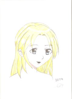 Manga Face.. Hand drawing ^_^