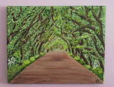 Tree Art Landscape Painting Original Painting Art by DreamyWalls, $40.00