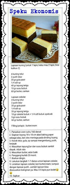 Cake Recipes, Snack Recipes, Dessert Recipes, Cooking Recipes, Lapis Surabaya, Bolu Cake, Lapis Legit, Siopao, Resep Cake