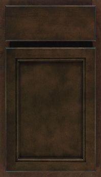 Aristokraft Cabinetry - Birch - Sinclair - Umber - hall bath