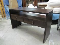 console table in solid maple