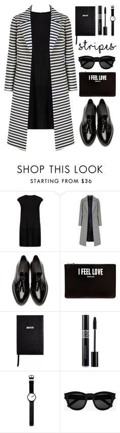 """I feel love"" by deeyanago ❤ liked on Polyvore featuring MuuBaa, Burberry, Givenchy, Sloane Stationery, Christian Dior, Rosendahl, Yves Saint Laurent and stripes"