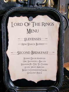 michelle paige: Lord of the Rings Birthday Party