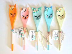 Kitten personalised decorative wooden spoon by JessQuinnSmallArt, £15.75