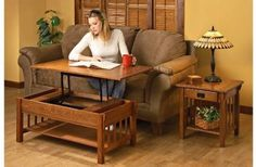 Furniture, Amazing Lift Top Coffee Table Situated With Brown Sofa Along With Wooden Table Also Parquet: Wonderful lift top coffee table hing...