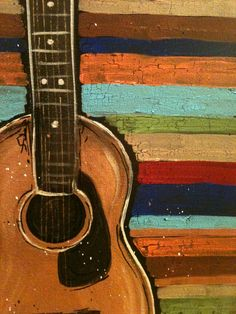 Guitar Music Instrument Modern Art Painting Image For Home Decoration Silk Canvas Fabric Print Poster Wallpaper (Mainland)) Guitar Painting, Guitar Art, Painting & Drawing, Watercolor Paintings, Acoustic Guitar, Guitar Strumming, Music Painting, Musik Illustration, Design Poster