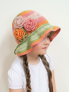 Hey, I found this really awesome Etsy listing at https://www.etsy.com/listing/182853289/spring-hat-sun-hat-for-girl-flower-hat