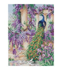 Westminster-The Peacock Counted Cross Stitch Kit-16 X12 18 Count: cross stitch: needle arts: Shop | Joann.com