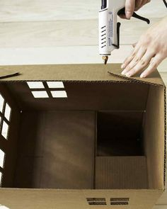 How to Make a Cardboard Cat Playhouse