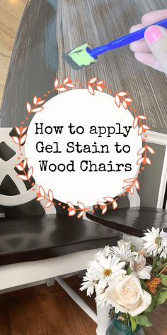 Pick your gel stain color! Learn how you can gel stain your wood chairs! You can gel stain in your house! No sanding required with this step by step gel stain tutorial! Gel Stain Furniture, Laminate Furniture, Furniture Makeover, Refurbished Furniture, Repurposed Furniture, Mirror Furniture, Hutch Makeover, Furniture Refinishing, Distressed Furniture