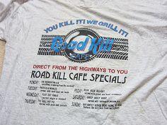 T-shirt   90s Road Kill Cafe T-Shirt Size XL X-Large / Hard Rock Cafe