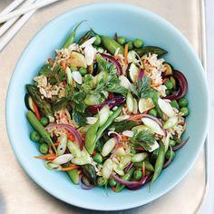 Жареные ароматный рис с весенними овощами