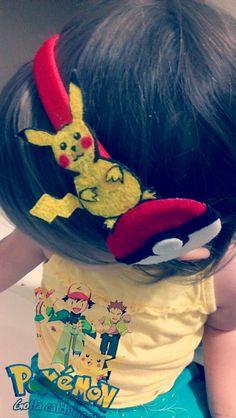 Pokemon Felt headband Pikachu by MiaBellaTreasures on Etsy, $10.00