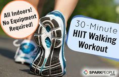 You don't have to leave the house to follow along with this 30-minute HIIT walking workout! | via @SparkPeople & @Jess Liu Smith Gomez #fitness #exercise #walk #interval #video