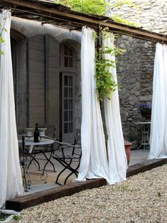 Patio draperies