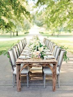 Country Soft wedding place setting