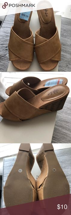 Brand new slip on sandals/loafers New with box loafers/sandals size 7 bought at Macy's Shoes Flats & Loafers