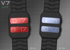 """""""V7"""" concept watch on the Tokyoflash blog."""