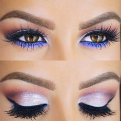 Silver Eyes with Purple Under  Eye Makeup: I like it just without the purple under the eyes