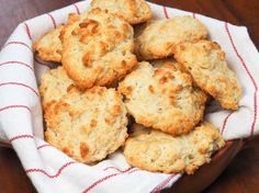Quick and Easy Drop Biscuits | Serious Eats : Recipes - not the prettiest looking biscuits, but they are so easy to make!Q