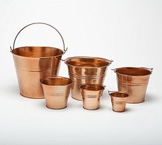 "One Copper Coloured 15cm (6"") Metal Bucket - Pot - Planter for sweet tree kits, plants, favours, storage (W9013) Craftmill http://www.amazon.co.uk/dp/B00FWUVG2Y/ref=cm_sw_r_pi_dp_UPsyvb1X2DWB6"
