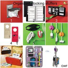 Organized gifts - Stocking Stuffers