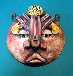 Ancient Tribe ceramic wall mask art  $48 https://www.etsy.com/listing/80652399/ancient-tribe-ceramic-mask