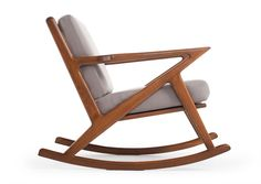 The Kennedy Rocking Chair in Klein Atomic fabric by Thrive Furniture // side view