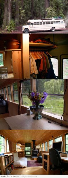 Turning an old school bus into a house