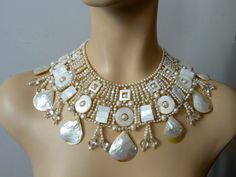 Image detail for -Pearl broad collar Margherita by colliermarguerite