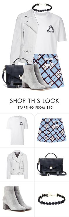 """""""Untitled #1441"""" by bettinakhrn ❤ liked on Polyvore featuring Marc by Marc Jacobs, Acne Studios, Proenza Schouler and Gianvito Rossi"""