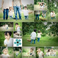 family photography in an orchard