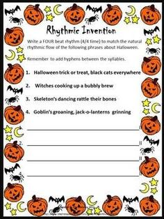 12 RHYTHM Invention worksheets. Answer sheet also included    #musiceducation