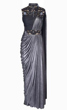 Draped Cocktail Gown Saree is part of Drape gowns - Shop draped cocktail gown saree , freeshipping all over the world , Item code Dhoti Saree, Drape Sarees, Saree Draping Styles, Saree Gown, Drape Gowns, Saree Styles, Indowestern Saree, Lace Saree, Draped Dress