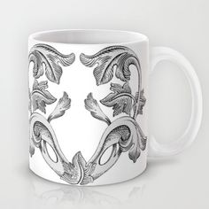 GREAT LOVE B & W Mug by Chicca Besso - $15.00