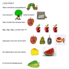 Rupsje Nooitgenoeg Eric Carle, Very Hungry Caterpillar Printables, Good Food, Yummy Food, Chenille, Food Videos, Crafts For Kids, Veggies, Fruit
