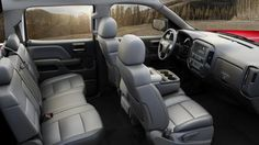 Inside Silverado Z71, durable materials that will last for years and provide all-day comfort.